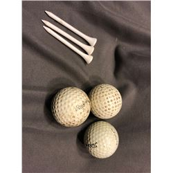 Lost - Set of x3 Golf Balls and x3 Tees (0101)