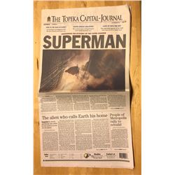 Man of Steel - Prop Lois Lane newspaper