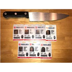 Belko Experiment - prop set of IDs and knife