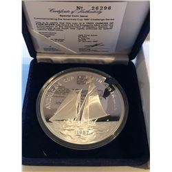 HUGE 5 Ounces Silver 999 Fine 1987 AMERICAS CUP COA in Original Box