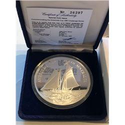 HUGE Silver 5 Ounces 1987 AMERICAS CUP COA in Original Box