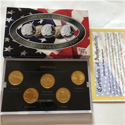 1999 GOLD EDITION Mint Complete State Quarters Set DE PA NJ GA CT in Original Package