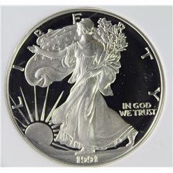 1991-S AMERICAN SILVER EAGLE