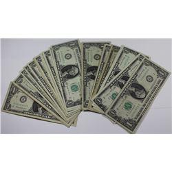 33PCS JOSEPH W. BARR DOLLAR NOTES