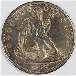 1865-S SEATED HALF DOLLAR