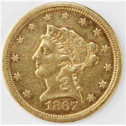 1867-S $2.50 GOLD LIBERTY