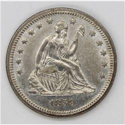 1859 SEATED QUARTER