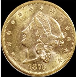 1876-S $20.00 GOLD TYPE 2