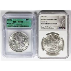 TWO SILVER DOLLARS: