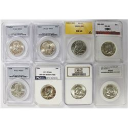 GROUP LOT OF PERFECT PROOFS: 8 COINS TOTAL