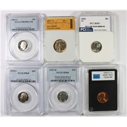 DIME AND NICKEL LOT: 6 COINS TOTAL