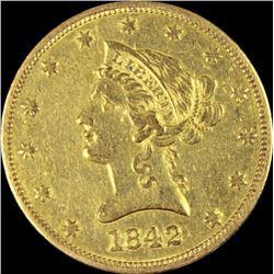1842-O $10 GOLD