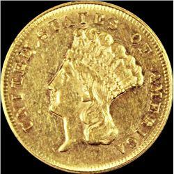 1870 $3.00 GOLD