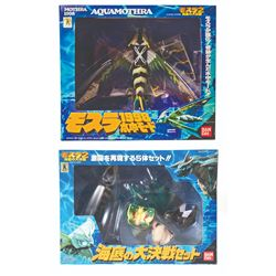 Bandai AQUA MOTHRA & MOTHRA II 5-Vinyl Figures Boxed Lot