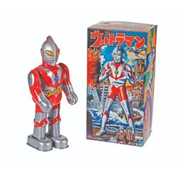 Billiken ULTRAMAN Boxed Tin Wind-Up Figure