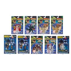 Trendmasters GODZILLA KAIJU COLLECTION Carded Bendable Figures Lot of 9