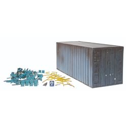 GODZILLA '98 EFFECTS CARGO CONTAINER AND MISC SHOOTING MINIATURE PROPS