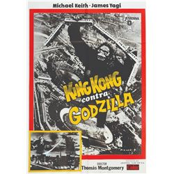 KING KONG vs GODZILLA 1978 Spanish Re-Release B1 Poster