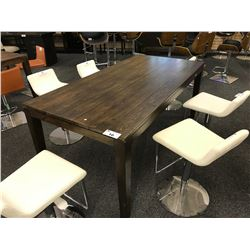 MILANO ENGLISH PLANKED WALNUT 6' X 3' DINING TABLE