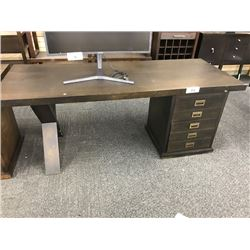 AURORA DARK WALNUT 6' X 2.5' OPEN EXECUTIVE DESK