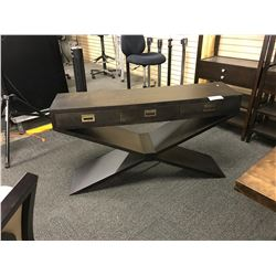 DARK WALNUT 4.5' 3 DRAWER HALLWAY TABLE