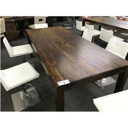 MILANO ENGLISH PLANKED WALNUT 7' X 3' DINING TABLE