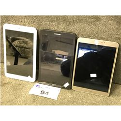 2 SAMSUNG AND 1 ACER TABLET