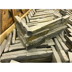 WEATHERED FINISH EXTERIOR WALL INTERLOCKING CORNER TILES, APPROX. 160 PIECES ON PALLET
