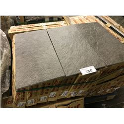 GREY PORCELAIN 12'' X 24'' TILES, APPROX. 6 X 30 PIECES ON PALLET, APPROX. 360 SQ. FT