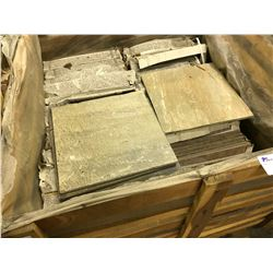 ASSORTED NATURAL COLOUR SLATE TILES, APPROX. 75 SQ. FT