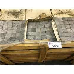 PALLET OF SMALL STONE 12'' X 12'' TILE APPROX. 405 SQ. FT