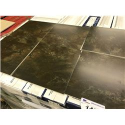 """""""DARK RIVER ROCK"""" PORCELAIN TILES, APPROX. 12 X 54 PIECES ON PALLET, APPROX. 648 SQ. FT."""