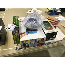 LOT OF VARIOUS VIDEO GAMES AND CARDS, NINTENDO SWITCH, IHOME COLOR CHANGING SPEAKER, POKEMON