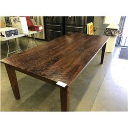 7FT CHERRY HANDSCRAPED DINING ROOM TABLE