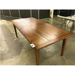 CHERRY HANDSCRAPED METRO EXTENSION DINING ROOM TABLE, 83INCH TO 118INCH - HAS INLAY