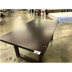 MAHOGANY 6'X3' DINING ROOM TABLE - NO INLAY