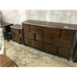 MAGNUSSEN MARYLAND CHESTNUT 6 DRAWER DRESS COMES WITH MATCHING NIGHT STAND