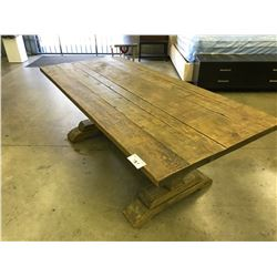 "DURHAM TRADITIONAL PINE 86"" DINING ROOM TABLE"