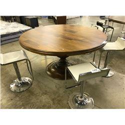 "MAGNOLIA 60"" ROUND LIGHT WALNUT DINING ROOM TABLE"