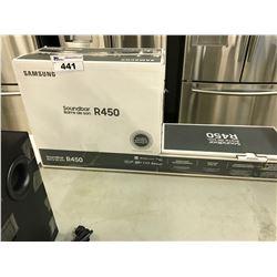 SAMSUNG SOUNDBARD R450 200W 2.1CH DOBLY AUDIO, BLUETOOTH COMPATIBLE SOUND SYSTEM