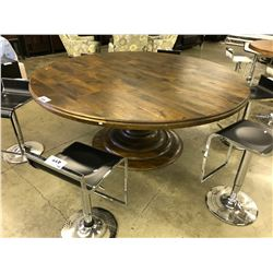 "MAGNOLIA 76"" ROUND WALNUT DINING ROOM TABLE"