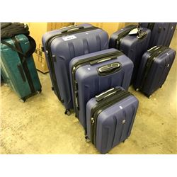 PURPLE SET OF 3 PIECE IT LUGGAGE SET - CONDITION ISSUES PLEASE PREVIEW