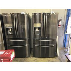 SAMSUNG CHARCOAL STAINLESS STEEL NON SMUDGE FRENCH DOOR REFRIGERATOR WITH MEAT CHILLER AND