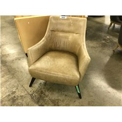 RENOLDS PRECEDENT LEATHER CAMEL ARM CHAIR