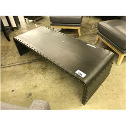 IRON LACQUERED FINISH 5' FOURHANDS COBALT COFFEE TABLE