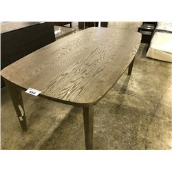 CHOCOLATE OAK TRICA 6' DINING ROOM TABLE