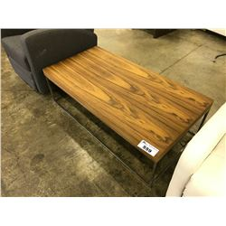 WALNUT AND CHROME FRANK COFFEE TABLE