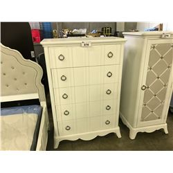 MAGNUSSEN JANE WHITE CHEST 5 DRAWER DRESSER