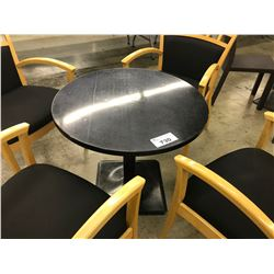 30'' SPECKLED BLACK ROUND TABLE