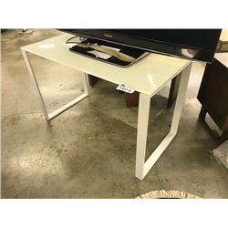 GLASS TOP 4' WRITING DESK